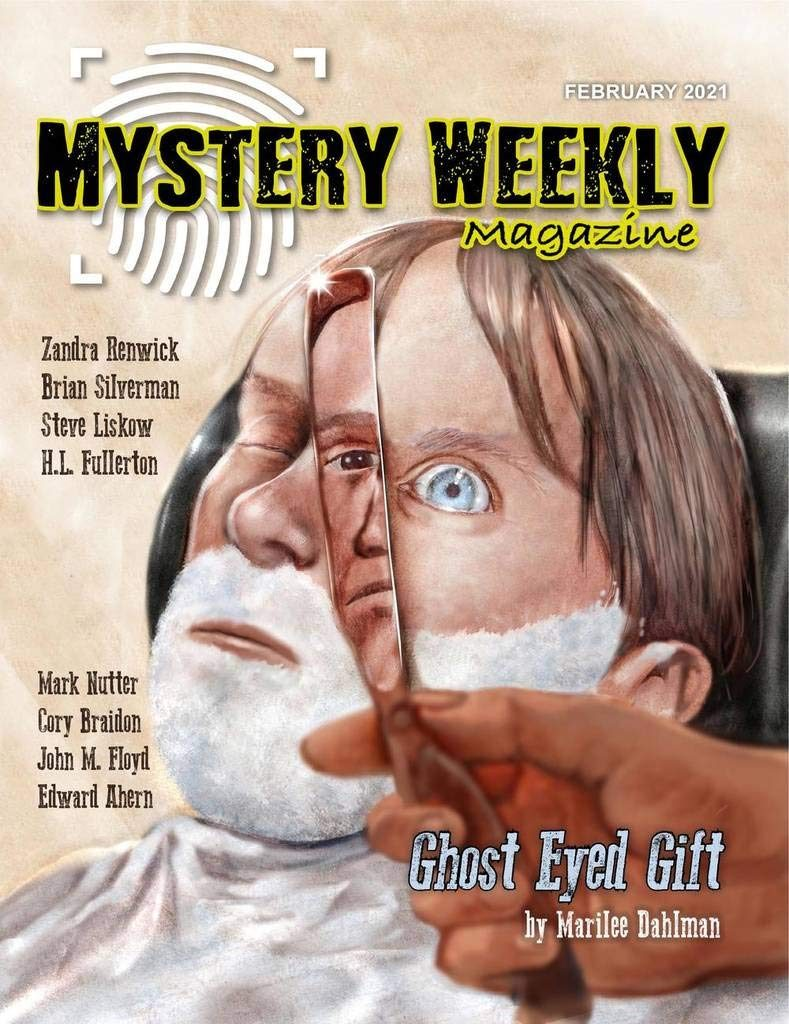 "mystery weekly magazine cover including short story ""nightshift in strange rain"" by zandra renwick"